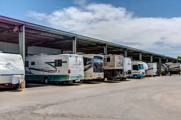 RV outdoor storage at Metro Self Storage in El Paso, Texas