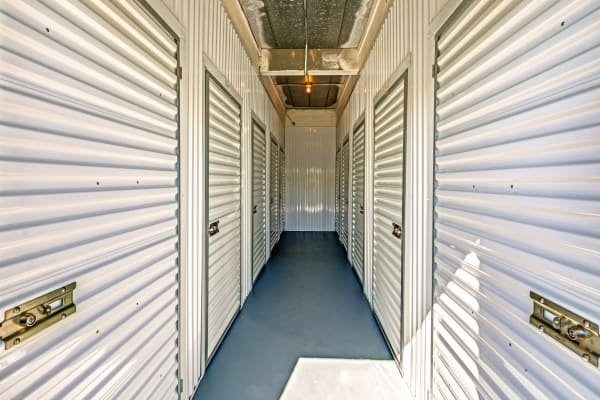 Indoor units hallway at Metro Self Storage in Fort Worth, Texas