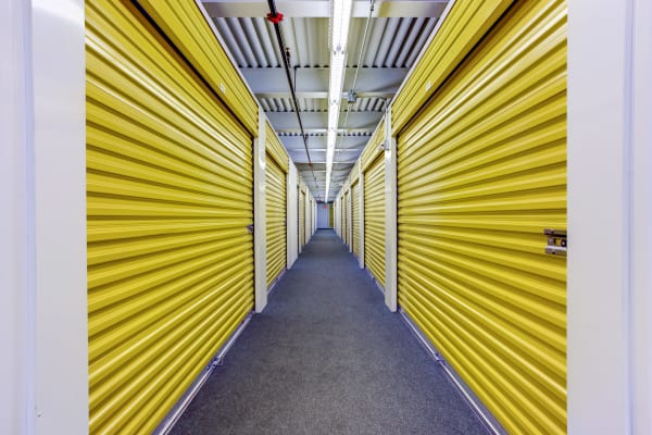 Interior units hallway at Metro Self Storage in Franklin Park, Illinois