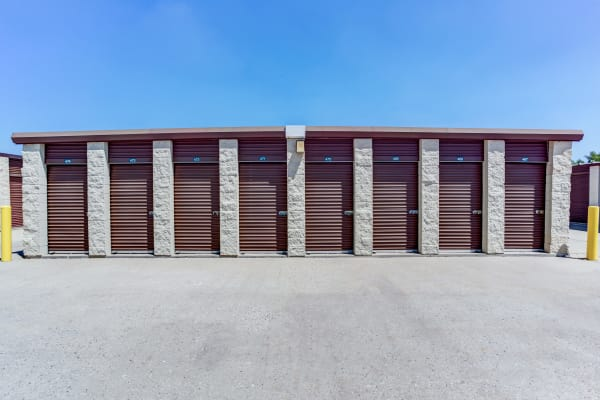 Exterior drive up units at Metro Self Storage in Grayslake, Illinois
