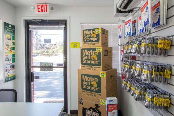 Packaging supplies at Metro Self Storage in Houston, Texas