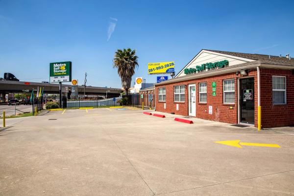 Parking area at Metro Self Storage in Houston, Texas