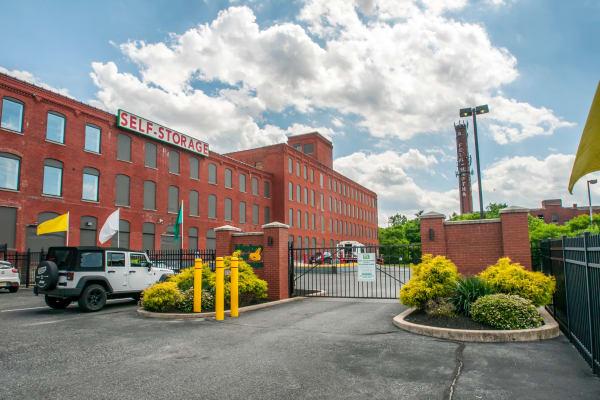 Facility entrance gate at Metro Self Storage in Philadelphia, Pennsylvania