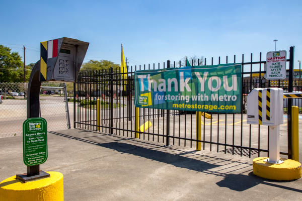 Metro Self Storage offers a security panel in Houston, Texas