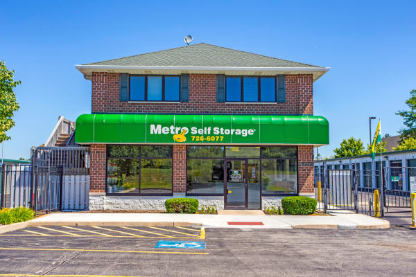 Parking area at Metro Self Storage in Lake Zurich, Illinois