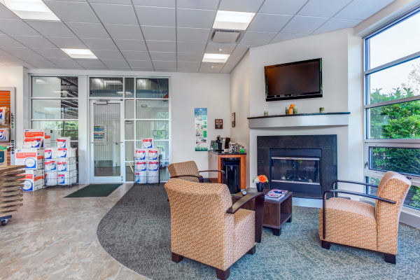 Leasing office reception at Metro Self Storage in Lake Bluff, Illinois