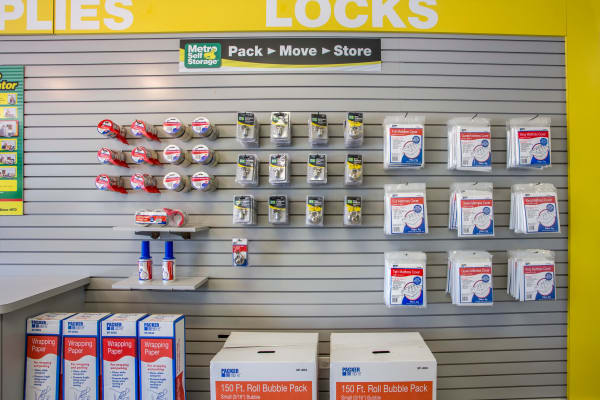 Packaging supplies at Metro Self Storage in Lake Zurich, Illinois