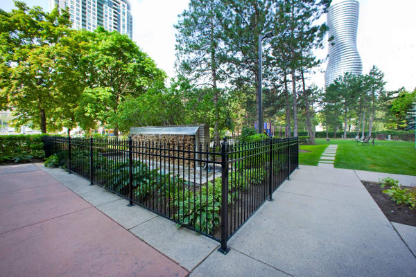 Wonderful walkway at Mississauga Place in Mississauga