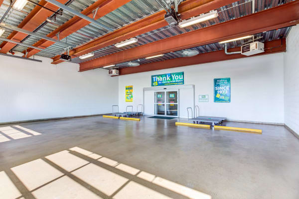 Loading dock interior view at Metro Self Storage in Lake Bluff, Illinois