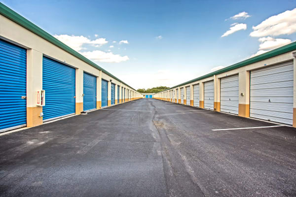 Exterior drive up units at Metro Self Storage in Lehigh Acres, Florida