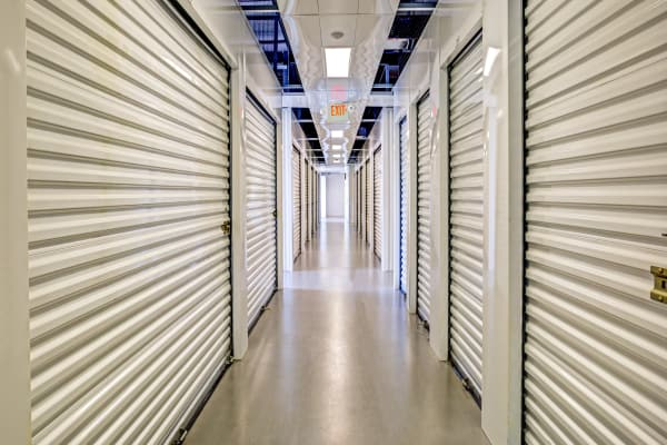 Indoor units hallway at Metro Self Storage in Lakeland, Florida