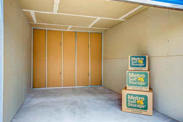 Storage unit interior view at Metro Self Storage in Midland, Texas