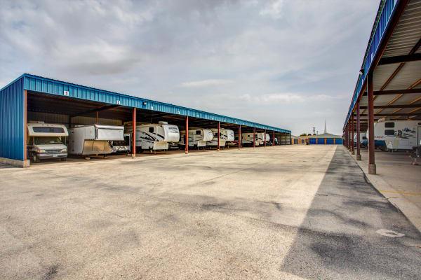 RV storage at Metro Self Storage in Midland, Texas