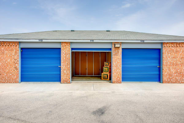 Open unit with packages at Metro Self Storage in Midland, Texas