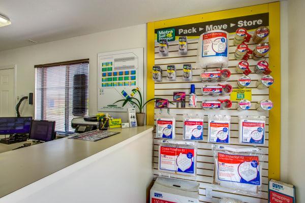 Office interior view at Metro Self Storage in Midland, Texas