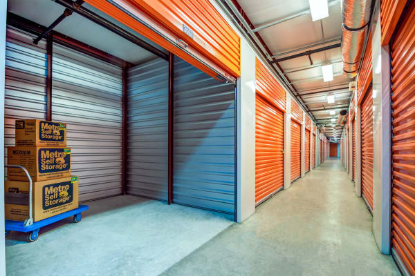 Indoors units at Metro Self Storage in Metairie, Louisiana
