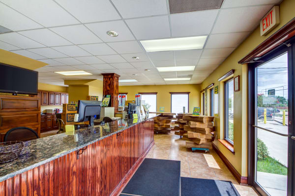 Office reception at Metro Self Storage in Metairie, Louisiana