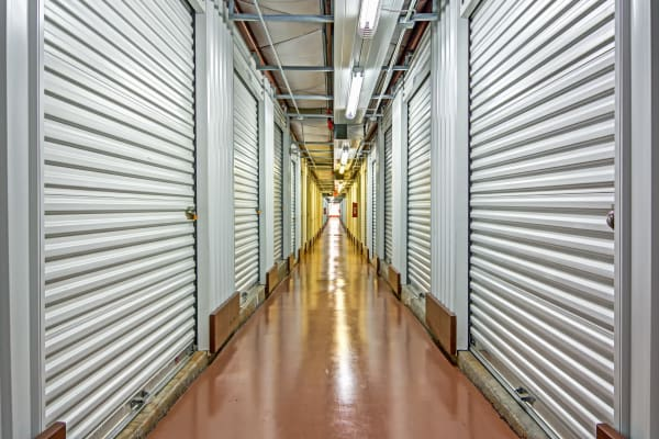 Indoors units hallway at Metro Self Storage in Norcross, Georgia