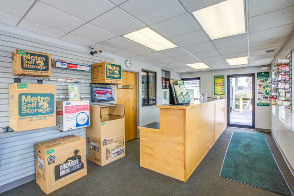 Office reception at Metro Self Storage in Northlake, Illinois