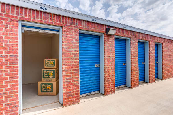 Open unit at Metro Self Storage in Lubbock, TX