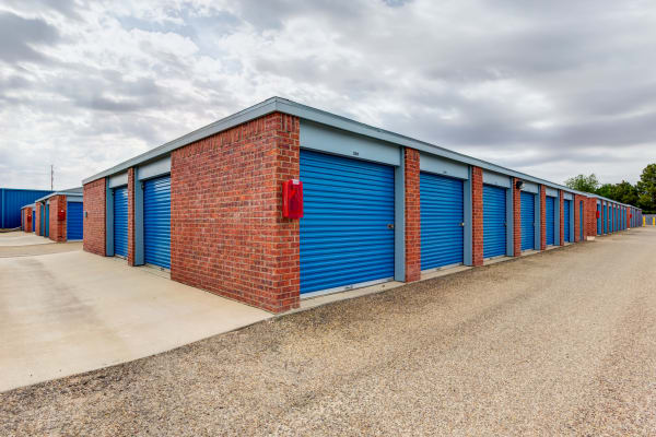 Exterior units at Metro Self Storage in Lubbock, TX