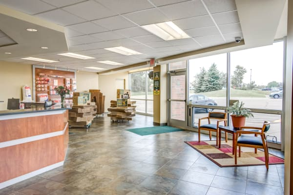 Leasing office reception at Metro Self Storage in Maple Grove, Minnesota