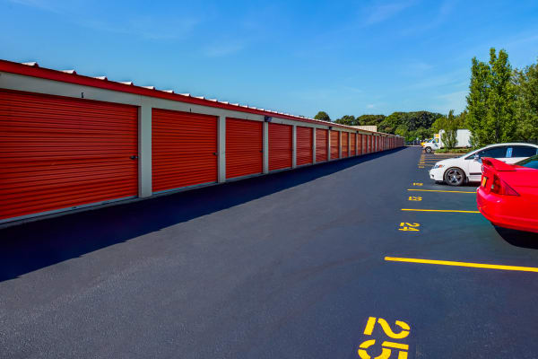 Exterior drive up units at Metro Self Storage in Oakdale, New York