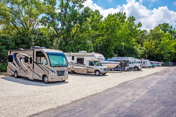 RV and boat storage at Metro Self Storage in Oakbrook Terrace, Illinois