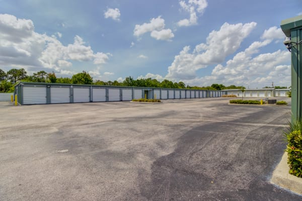 Exterior drive up units at Metro Self Storage in Port Charlotte, Florida