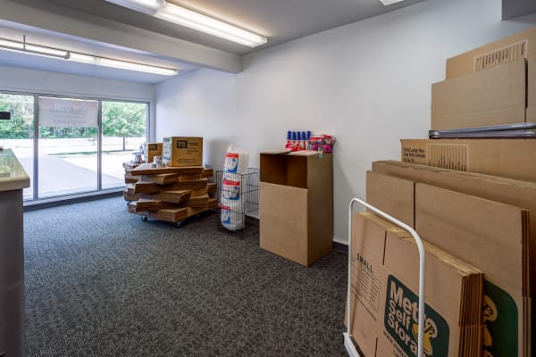 Packaging supplies at Metro Self Storage in Oakdale, New York