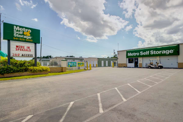 Parking area at Metro Self Storage in Port Charlotte, Florida