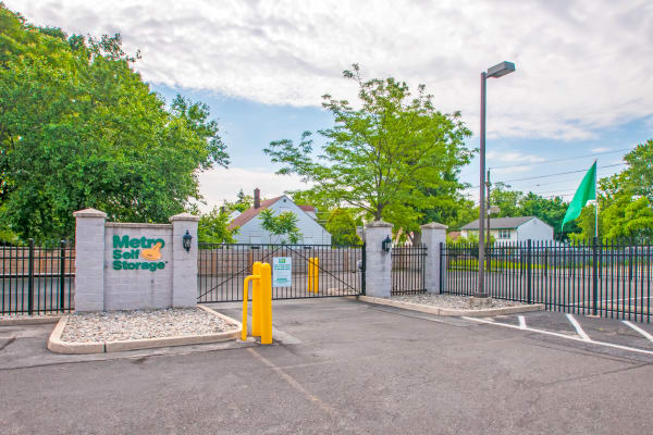 Access gate at Metro Self Storage in Pennsauken, New Jersey