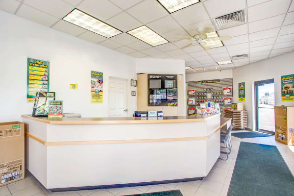 Leasing office reception at Metro Self Storage in Palatine, Illinois