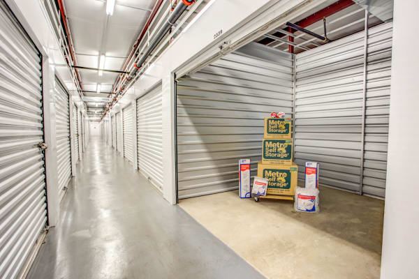 Indoor units hallway at Metro Self Storage in Palatine, Illinois