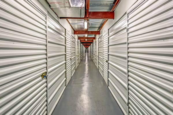 indoor units hallway at Metro Self Storage in Pinellas Park, Florida