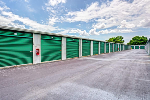 Exterior drive up units at Metro Self Storage in Pinellas Park, Florida