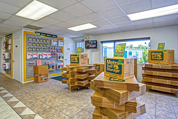 Packaging supplies at Metro Self Storage in Pinellas Park, Florida