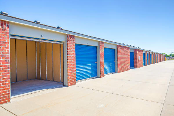Open outdoor unit at Metro Self Storage in Park City, Kansas