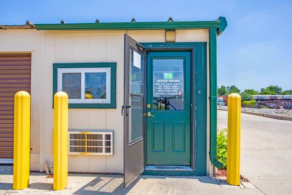 Office entrance at Metro Self Storage in Round Lake Beach, Illinois