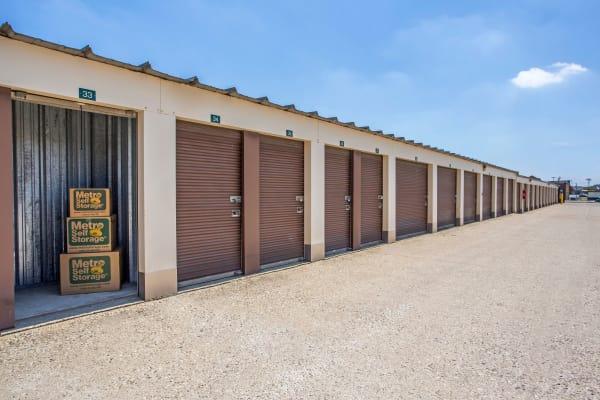 Open outdoor unit at Metro Self Storage in Round Lake Beach, Illinois