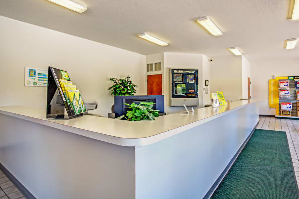 Office reception at Metro Self Storage in Seffner, Florida