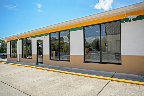 Office front view at Metro Self Storage in Seffner, Florida
