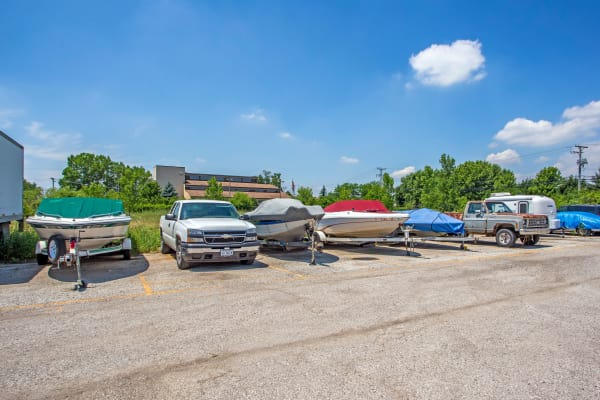 RV and boat storage at Metro Self Storage in Round Lake Beach, Illinois