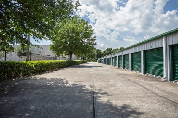 Exterior drive up units at Metro Self Storage in Seffner, Florida