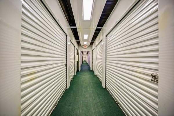 Indoor units hallway at Metro Self Storage in Seffner, Florida