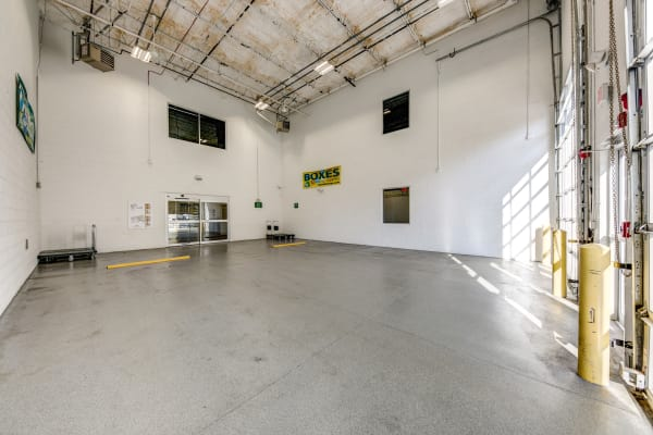 Loading dock interior view at Metro Self Storage in Springfield, New Jersey