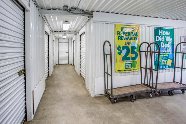 Facility interior view at Metro Self Storage in Staten Island, New York