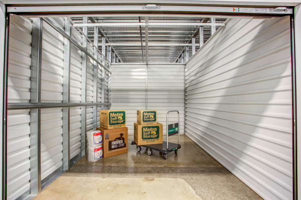 Unit interior view at Metro Self Storage in Skokie, Illinois