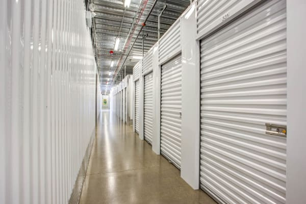 Indoor units hallway at Metro Self Storage in Skokie, Illinois