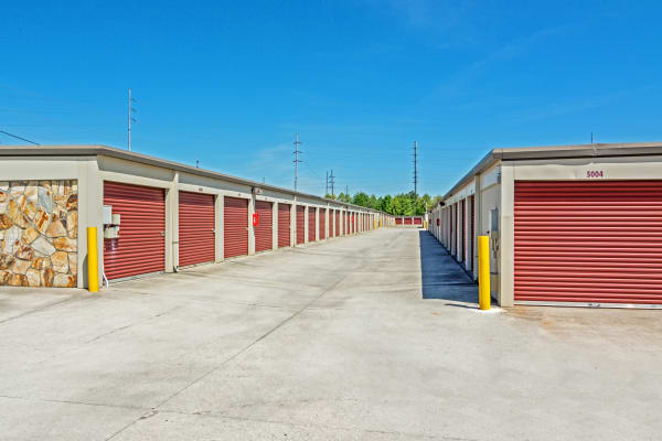 Exterior drive up units at Metro Self Storage in Stone Mountain, Georgia